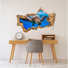 3D Turtle Wall Decal