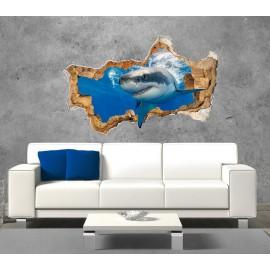 3D Shark Wall Decal