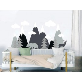 Mountains Woodland Wall Decal