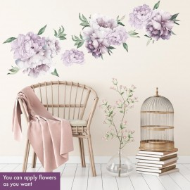 Watercolor Peony Wall Decal