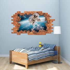 3D Spaceman Wall Sticker