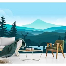 Blue Ombre Mountains Wallpaper