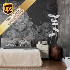 Dark Peony Flowers Wallpaper